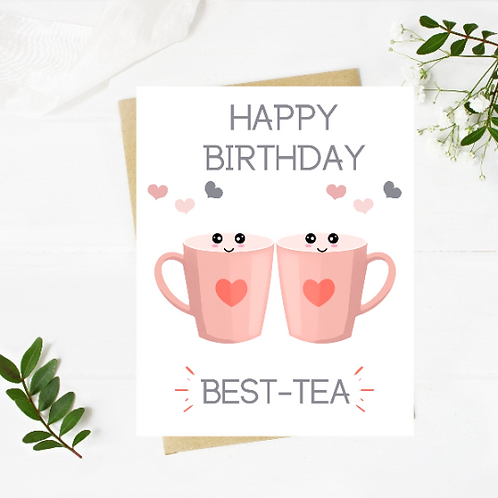 Best Tea Birthday Card