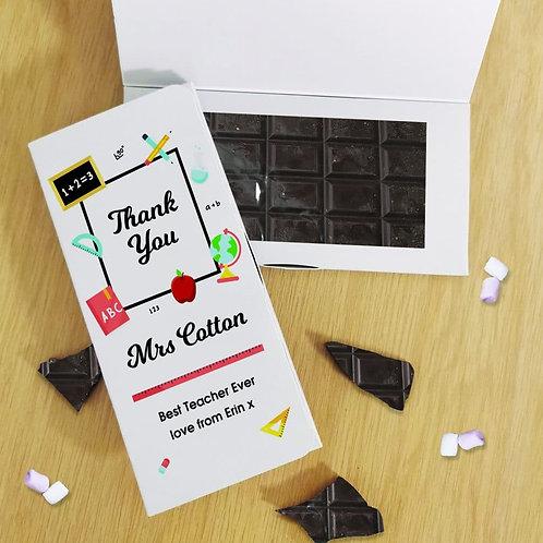 Thank You Teacher Dark Chocolate Card
