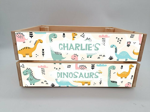 Personalised Dinosaur Crate