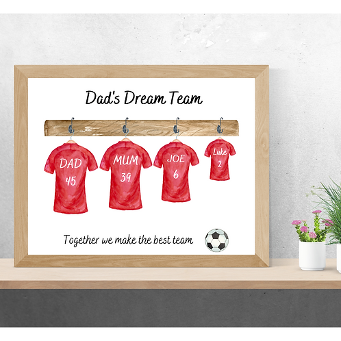 Personalised Football Picture
