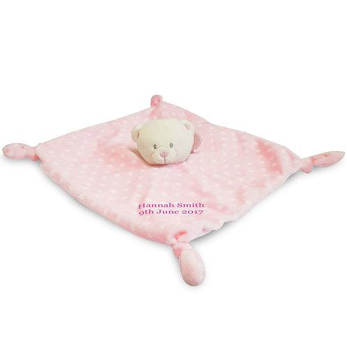 Pink Bear Baby's 1st Blanket/Comforter