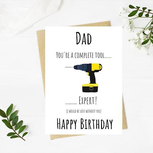 Dad Tools Birthday Card