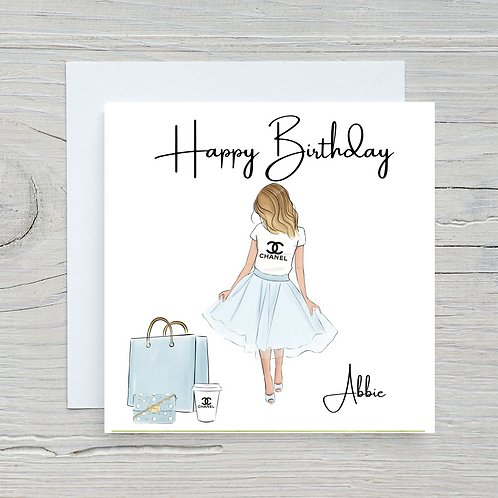 Chanel Inspired Birthday Card