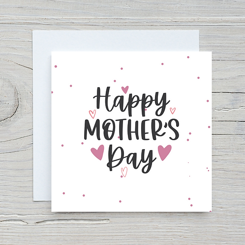 Mother's Day Card -Hearts