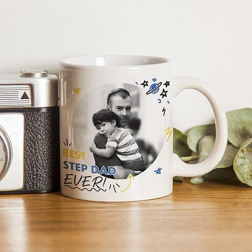Best Step Dad Ever Photo Upload Mug