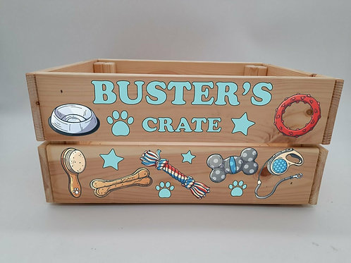 Personalised Dog Toys Crate