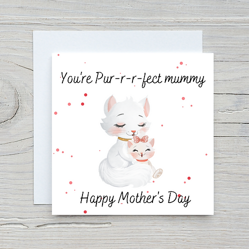 Mother's Day Card -Cat & Kittens