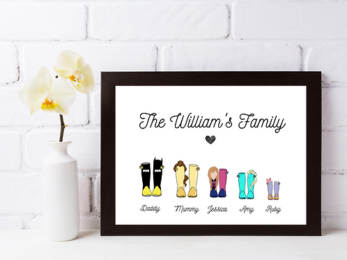 Personalised Character Welly Boot