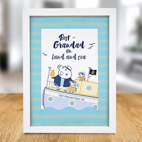 Peppa Pig™ Best Grandad A4 Framed Print