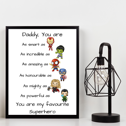 Marvel Daddy Picture