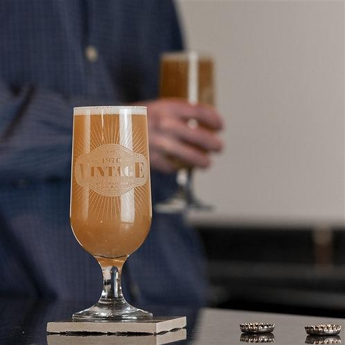 Vintage Craft Beer Glass