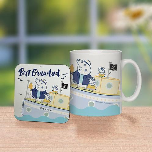 Peppa Pig™ Best Grandad Mug & Coaster