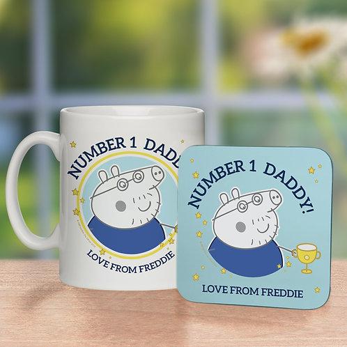 Peppa Pig™ Number 1 Daddy Mug & Coaster