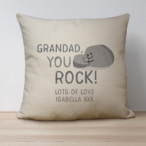 You Rock Linen Look Cushion