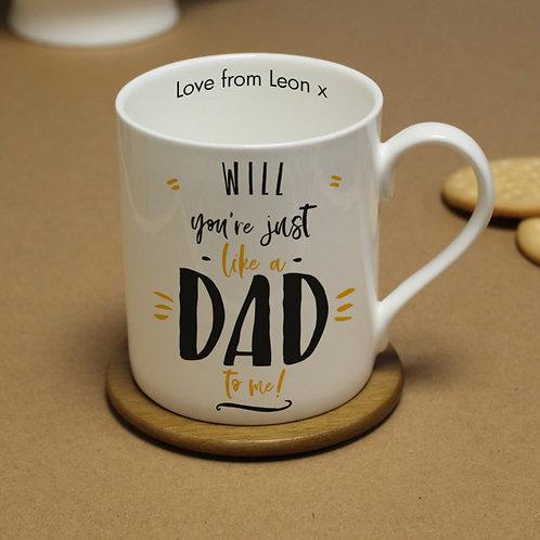 Just Like A Dad To Me Large Balmoral Mug