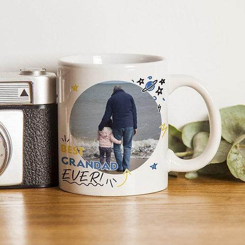 Best Grandad Ever Photo Upload Mug