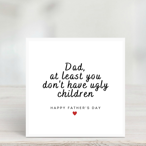 Father's Day Card- Off the children
