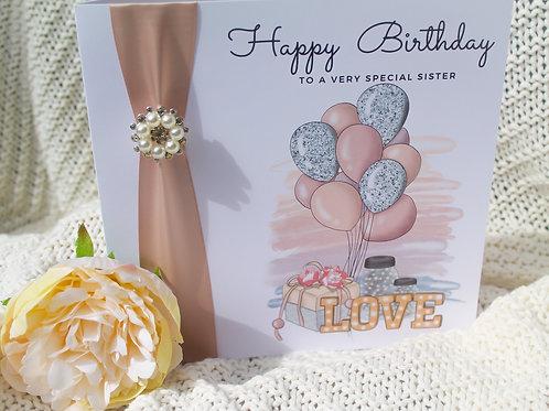 Handmade Sister Or Friend Birthday Card