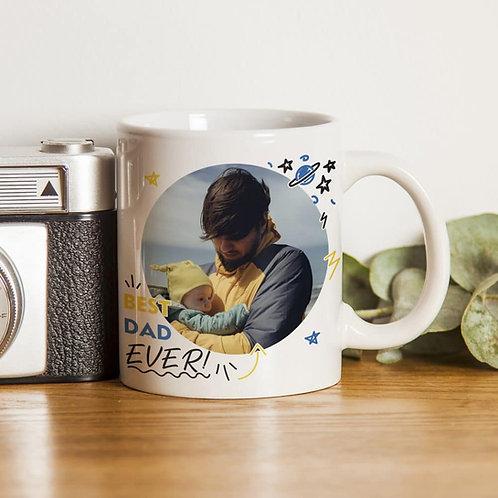 Best Dad Ever Photo Upload Mug