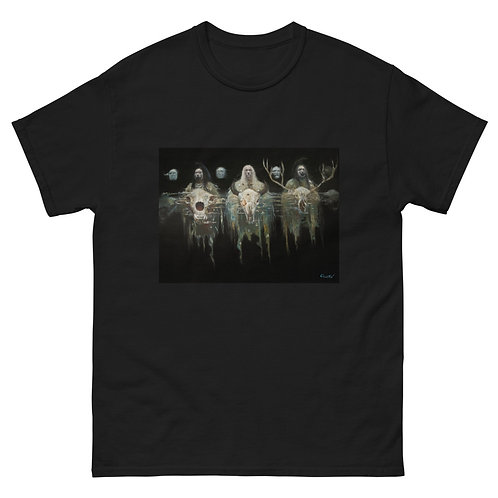 """""""Ghosts of Wounded Knee"""" Men's heavyweight tee"""