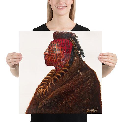 "Fine Art Print ""Red Tomahawk"""