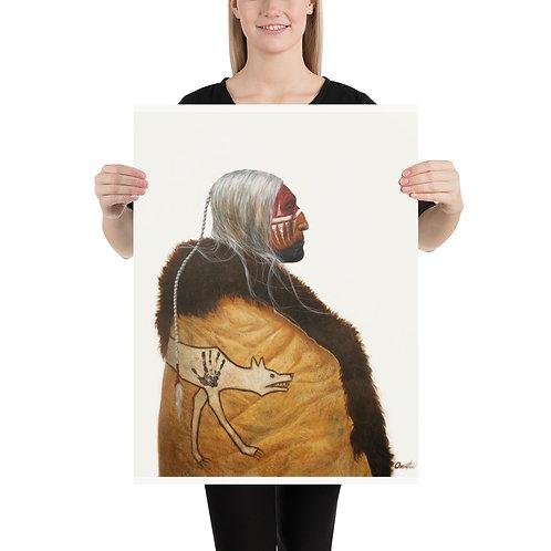 "Fine Art Print ""Wolf Robe"""