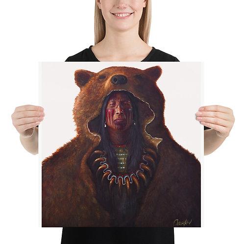 """Fine Art Print """"Blood Hand Bear"""""""