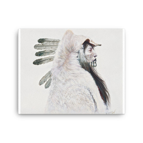 """Canvas """"Storm Cloud Wolf"""""""