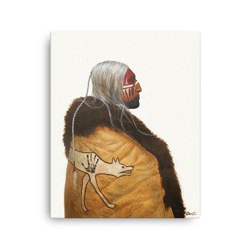 """Canvas """"Wolf Robe"""""""
