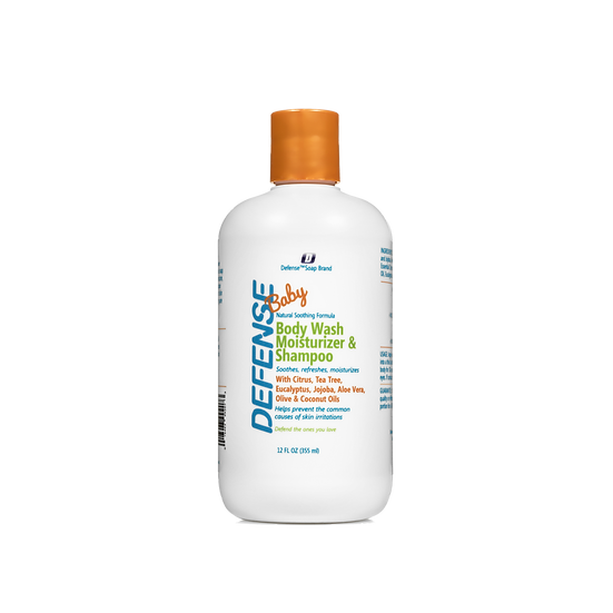 Defense Baby Wash Moisturizer & Shampoo | 全天然寶寶呵護洗髮沐浴露 - 12oz