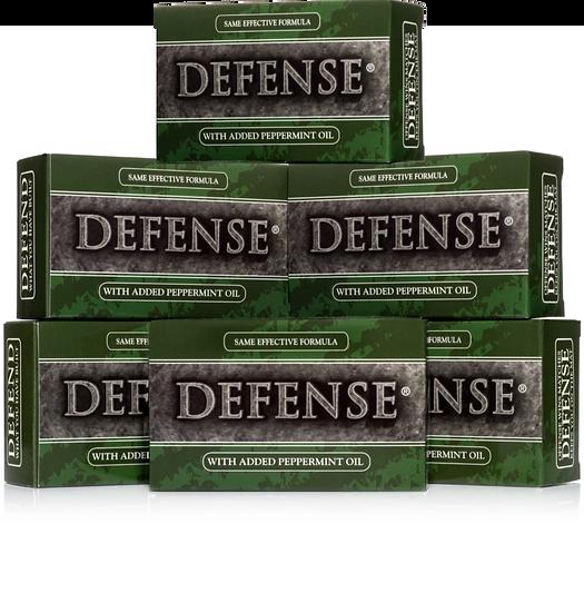 Defense Peppermint Soap Bar (4oz) - Pack of 6 | 全天然薄荷味茶樹及尤加利精油肥皂 (4oz) - 6盒裝