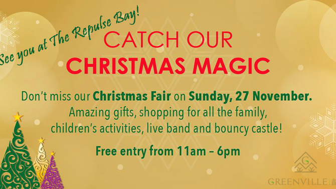 Come to The Repulse Bay Christmas Fair This Sunday and Find Us There!