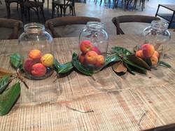 centerpieces peaches