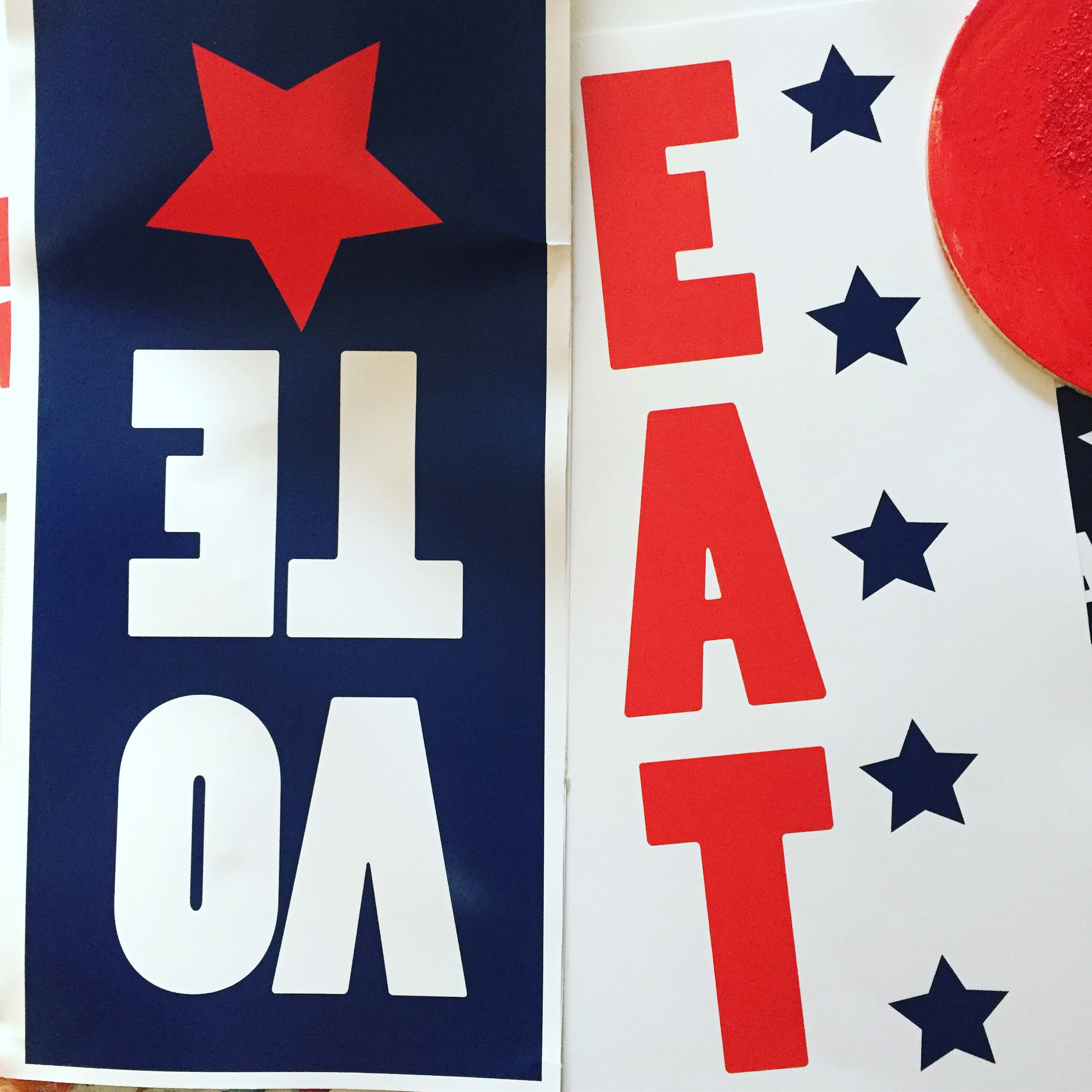 election theme buffet signs