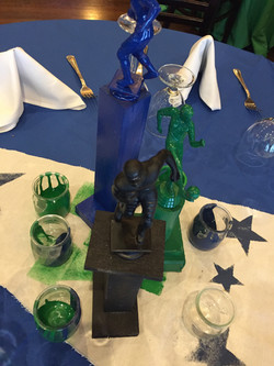 centerpiece sports bar mitzvah