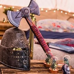 Sword and helmet