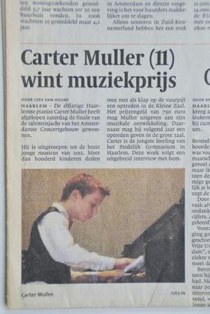 Article in local newspaper