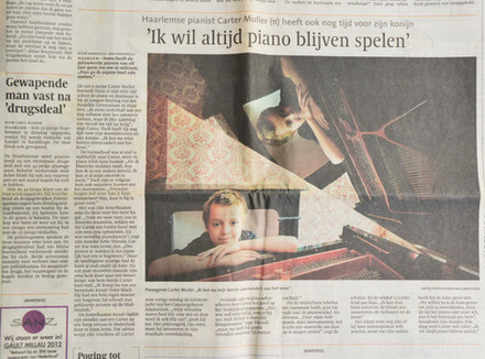 Interview in local newspaper