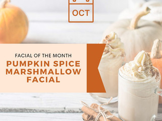 pumpkin spice marshmallow   October facial of the month