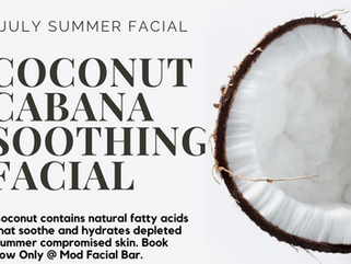 Coconut Cabana Soothing Facial - July Facial of the Month