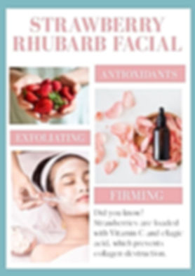 strawberry rhubarb facial of the month J