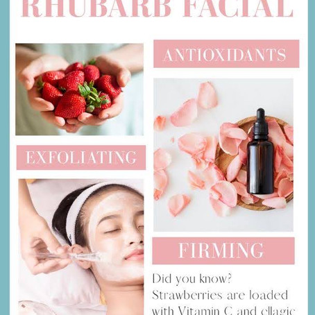 Strawberry Rhubarb Facial, Yum!