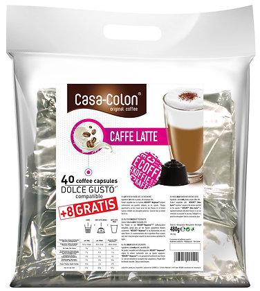 CASA COLON CAFFE LATTE DOLCE GUSTO®* COMPATIBLE CAPSULES - 40+8 pcs
