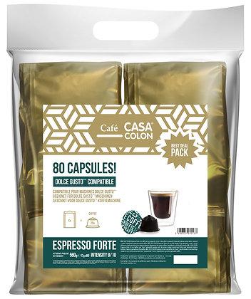 CASA COLON 80 DOLCE GUSTO®* COMPATIBLE CAPSULES - ESPRESSO FORTE