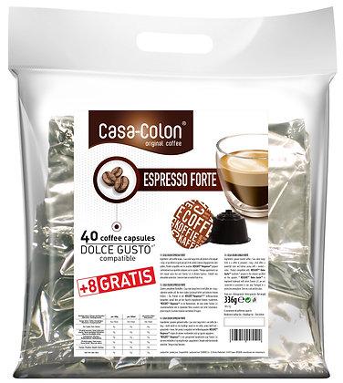 CASA COLON ESPRESSO FORTE DOLCE GUSTO®* COMPATIBLE CAPSULES - 40+8 pcs