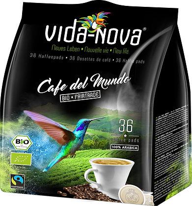 VIDA NOVA PADS DEL MUNDO BIO&FAIRTRADE 100% ARABICA 36 PCS