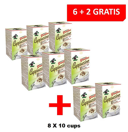 6+2 FOR FREE PROMOTION - DOMINO CAPPUCCINO INSTANT 10 PORTIONS