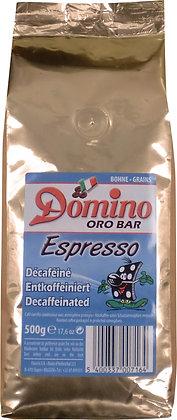 DOMINO ORO BAR ESPRESSO 1 KG BEANS DECAFFEINATED