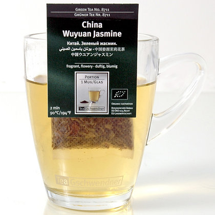 "GSCHWENDNER TEA ""CHINA WUYUAN JASMIN"" ORGANIC 2 g x25"