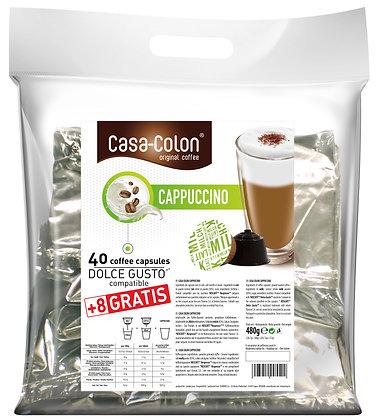 CASA COLON CAPPUCCINO DOLCE GUSTO®* COMPATIBLE CAPSULES - 40+8 pcs